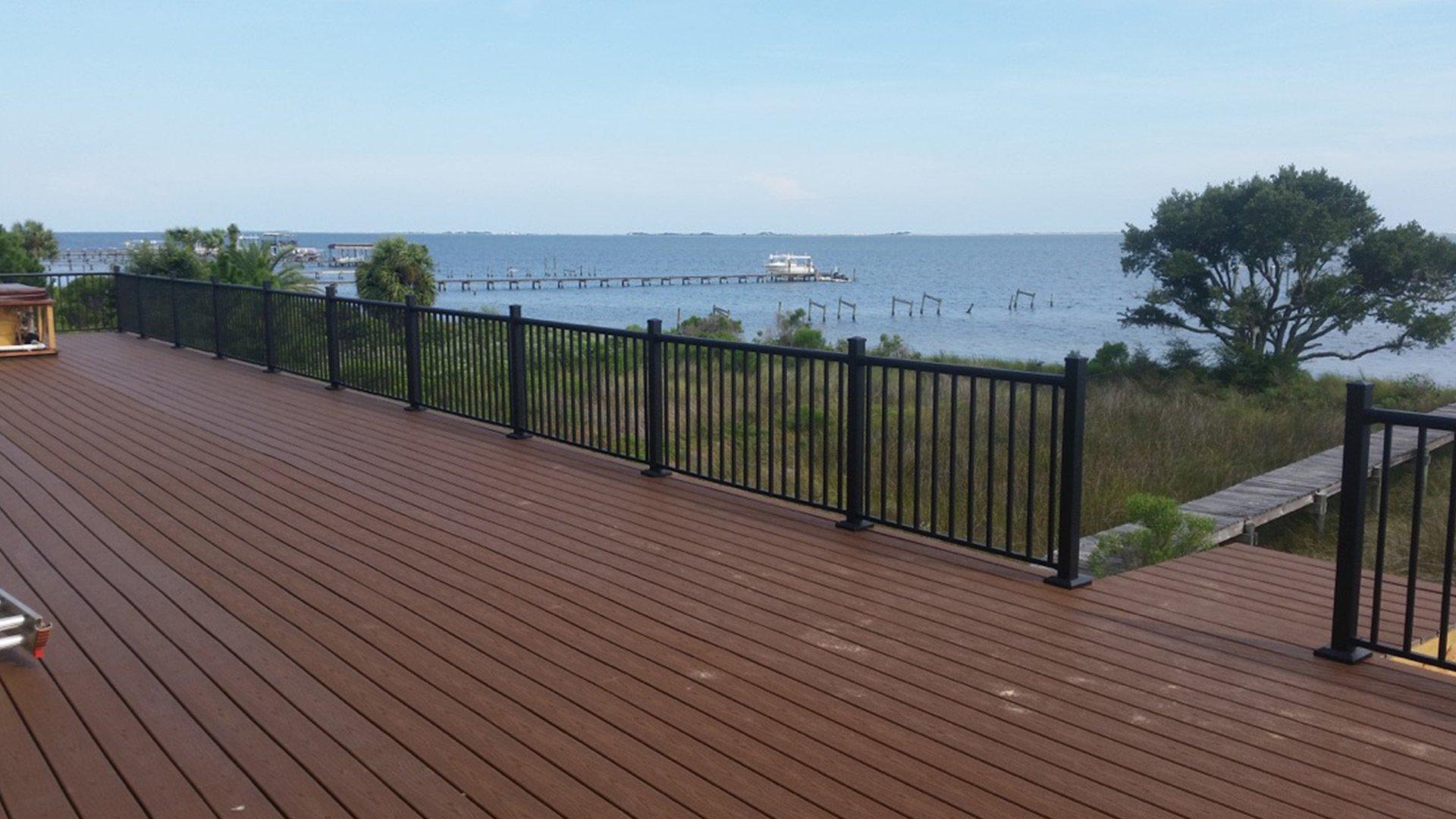 Shoreline metal fencing
