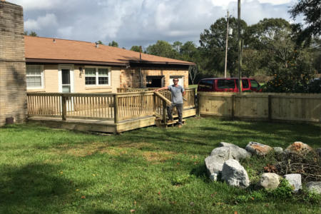 Custom Wood Deck In Cantonment Fl Pensacola Fence