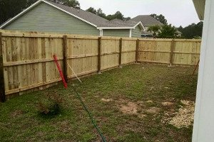 Wooden fence project 1