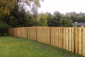 Wooden fence in Pensacola FL