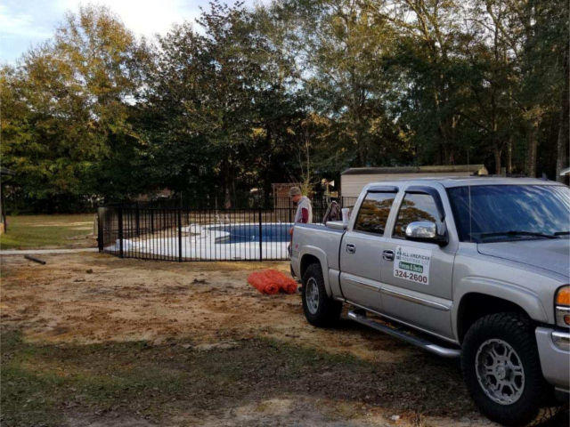 Pace Pool Fence Installation