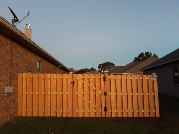 Shadowbox Wood Fence in Beulah, Florida